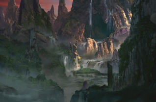 Matte Painting for IP CDW Canyon Opening